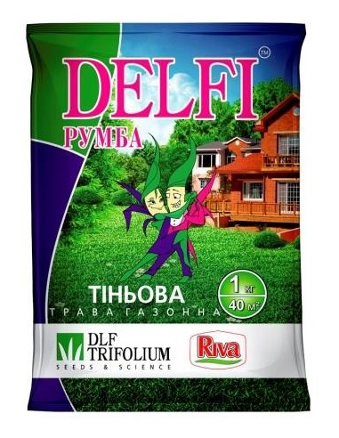 Газонна трава DELFI румба Тіньова, 1 кг