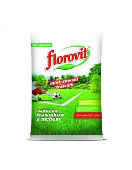Florovit (Флоровит) для газонов пораженных мхом, 10 кг