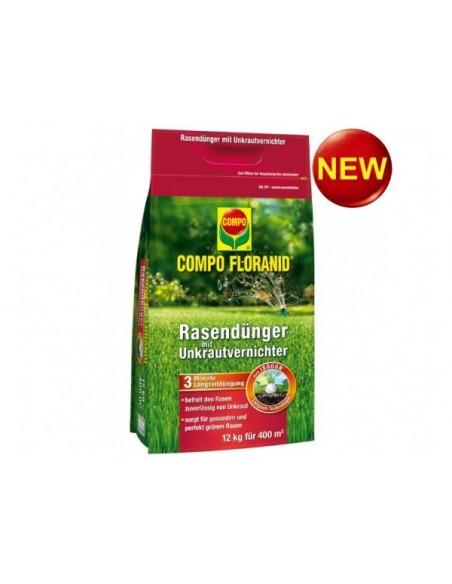 Твердое для газона против сорняков, Compo 12 кг