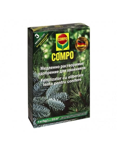Твердое удобрение Compo (Компо) для хвойных, 1 кг