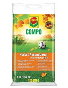 Добриво тривалої дії для газонів, осінь, COMPO, 4 кг