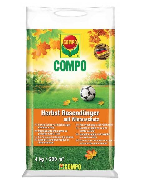 Твёрдое удобрение длительного действия для газонов, осень COMPO (Компо), 4 кг