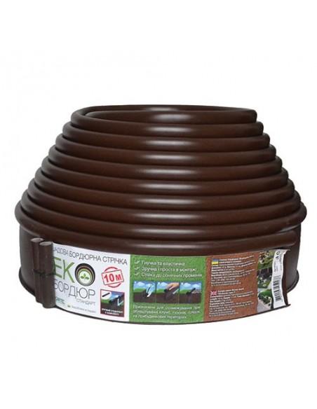 Екобордюр Стандарт 10 м (коричневый)