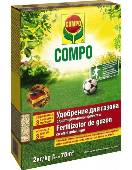 Твёрдое удобрение длительного действия для газонов, COMPO (Компо), 2 кг